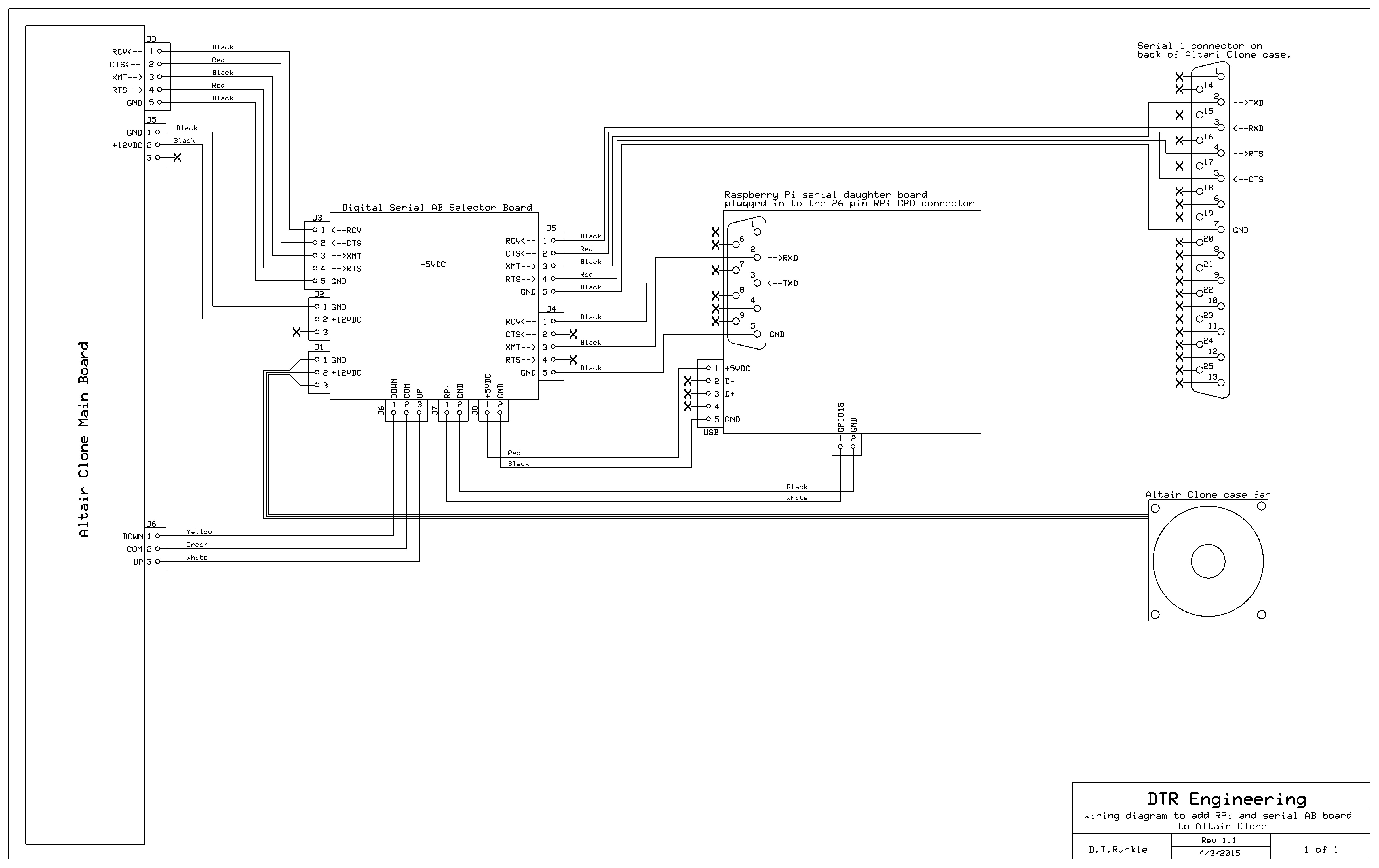Astrorat Altair Meet Rpi Serial Cable Wiring Diagram In My Original Setup I Used A Db9 To Db25 Connect The Placed On Top Of Case